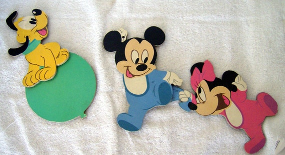 Vintage Baby Wall Decor : Vintage disney baby mickeymouse wall decor by beaddivaboutique