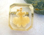 Vintage orchid pin