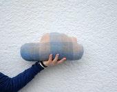 blue woolen cloud pillow