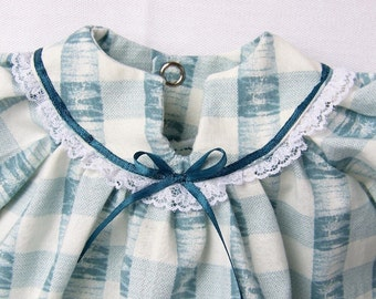 ONLY 1 SET LEFT ~ Custom Size ~ Ribbons and Blue ~ Traditional Nightgowns for Girl and Doll ~ Set