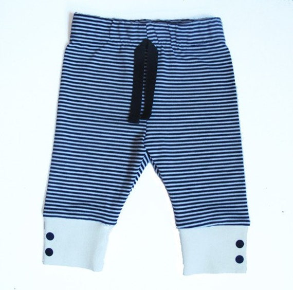 Striped pants with dots
