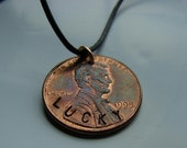 Ready to Ship - Handstamped Necklaces - My Lucky Penny - Necklace Cord INCLUDED