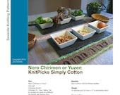 Passover Seder Plate Runners - PDF Knitting Pattern