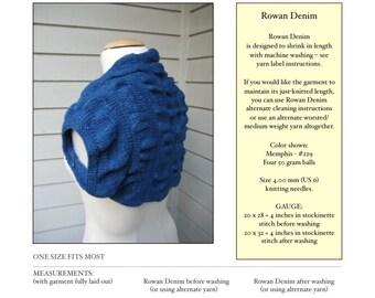 Aegean Sea Shrug - PDF Knitting Pattern