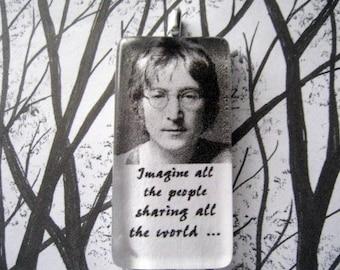 Imagine by John Lennon   Song Lyric Pendant