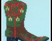 Western Boot Bead pattern - PDF tutorial - Jingle Bells
