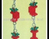 Earring Bead pattern - PDF tutorial - Apple Core - Baltimore