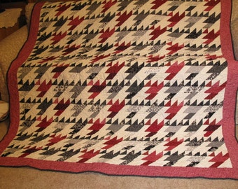 Red Black & white Couch Throw