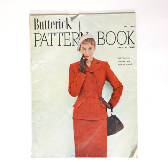 Butterick Pattern Book - Fall 1949 - Vintage 40s Sewing Patterns