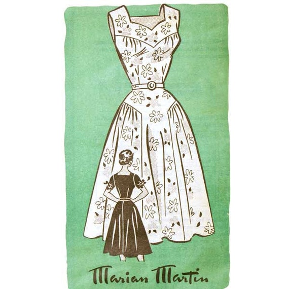 1950s Dress Pattern Flared - Bust 30 Marian Martin 9085