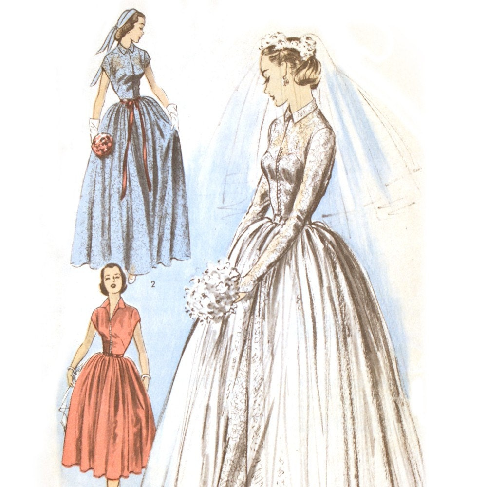 1950s Wedding Dress Pattern Uk