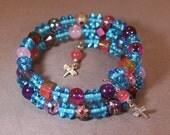 Morning Blues Memory Wire Bracelet