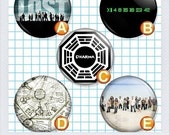 LOST ABC Dharma (1 of 3) 1 inch buttons/badges/pinbacks/pins. Set of 5