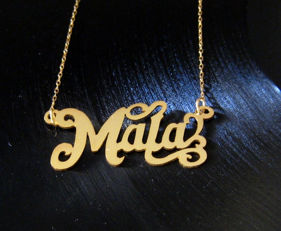 SALE Mala Oh you bad girl.... 18k gold vermeil