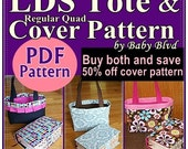 LDS ScriptureTote and Quad Cover Patterns/ Tutorial