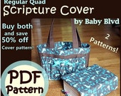 Pocket Tote and LDS Regular Quad Cover PATTERNS/ Tutorials