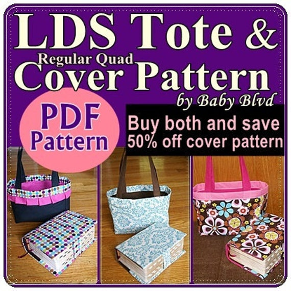 Lds Scripturetote And Quad Cover Patterns Tutorial From