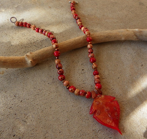 Leaves of Fire Necklace