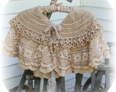 Lace Cape Hipscarf Apron Mini Skirt  All in One All Vintage