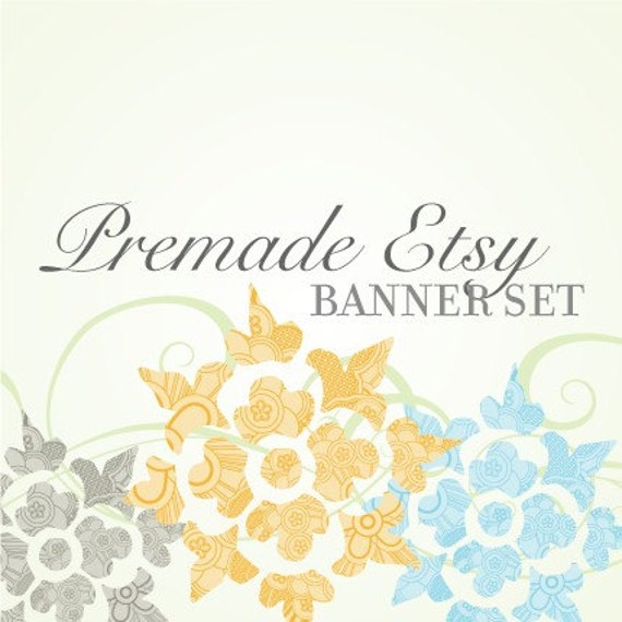 SALE - Premade Etsy Banner, Avatar, and Thank You Graphic