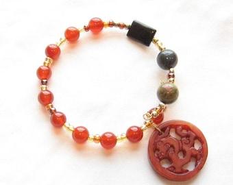 Bone dragon spirit beads