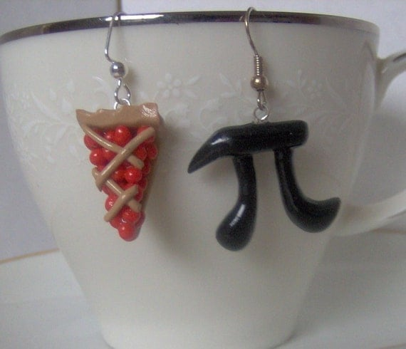 Pi and Cherry Pie Earrings