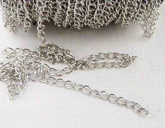 Silver Chain 16 foot Chain Antique Silver Twisted Unsoldered 6mm x 3mm 21g NF (1013cha06s1) ... last remaining package