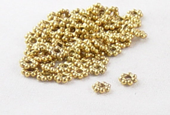 Bead Spacer 75 Antique Gold Color Daisy Flower 4.5mm (1042spa04d1) ... last remaining packages