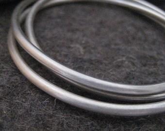 Interlocking Bracelets Sterling Silver Bangles