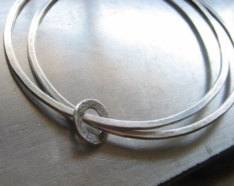 Ring Me Sterling Silver Bangle Bracelet