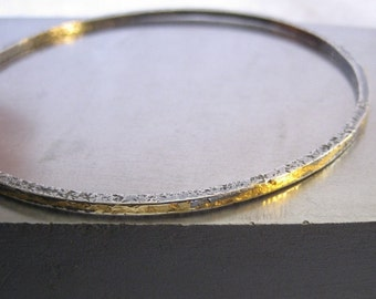 Skinny Golden Keum Boo Sterling Silver Bracelet