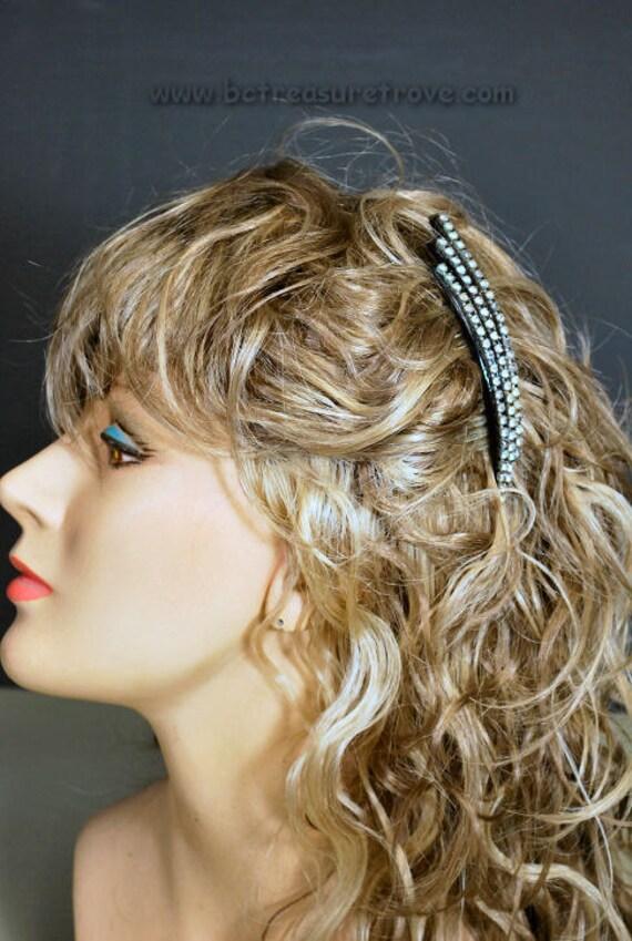 Art Deco Rhinestone Hair Comb
