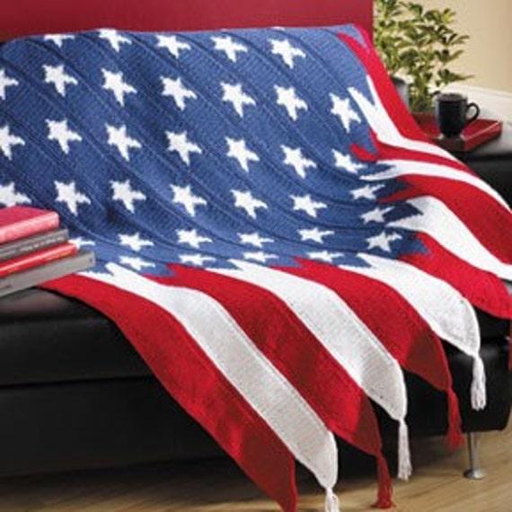 American Flag Afghan On SALE September ONLY