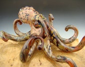 Glass Octopus Sculpture paperweight Aquarium Art Ocean Boro KT (made to order)