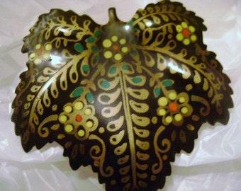 WEST GERMANY Vintage leaf brooch   SALE