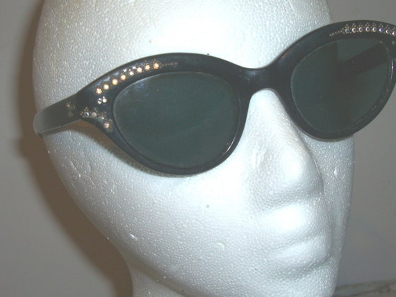 Vintage French rhinestone SUNGLASSES On hold for 50sFashonista
