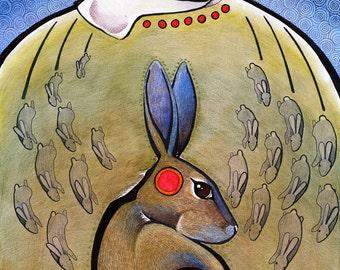 Original Prolific Profound Rabbit as Totem