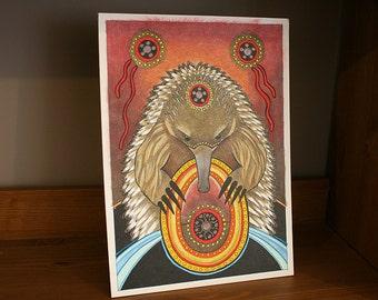 Original Unique Echidna as Totem