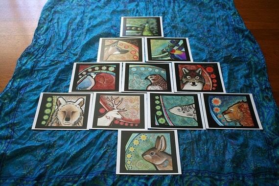 11 card Shaman's Tree Oracle Reading - Unique Totem Deck by Ravenari