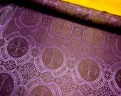 GEORGOUS purple black cross acetate brocade fabric BTY