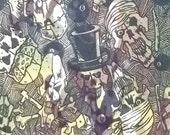 DEMONIC camo camouflage skull fabric BTY