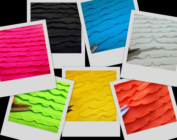 Tiny Baby Ruffle Quality 4way Stretch Lycra Spandex Fabric BTY in 5 colors