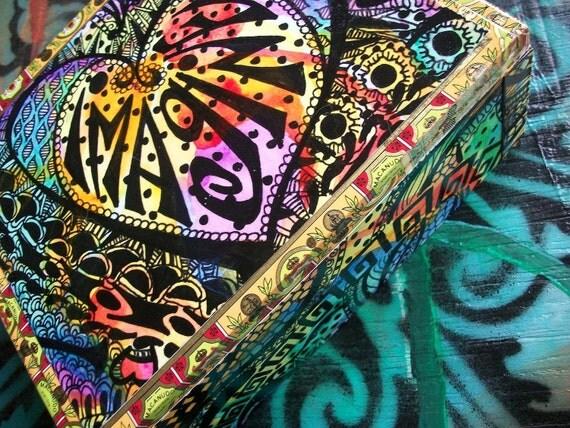 Imagine, An Original Singleton Hippie Art Box