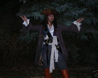 Pirate shirt  SCA Renaissance Steampunk POTC peasant Johnny Depp Captain Jack Sparrow