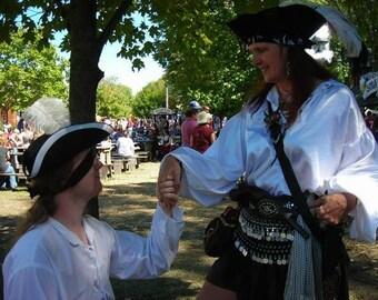 Pirate shirt  steampunk lolita Renaissance Victorian SCA peasant  POTC poet shirt