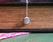 Vintage Itsy Bitsy Silver Locket - sterling silver chain and clasp