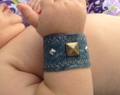 Studded Rocker Baby Boy Toddler Felt Cuff Bracelet