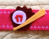 Custom Baseball Felt Bracelet for Nicolette
