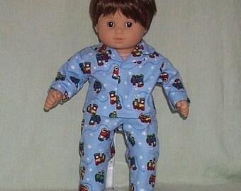 American Girl Bitty Baby Twin Boy Doll Pajamas Train