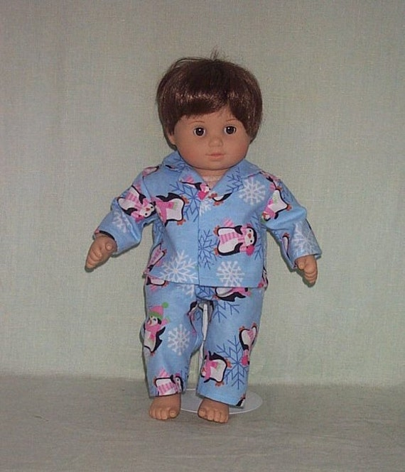 American Girl Bitty Baby Twin Boy Doll Pajamas Penguin